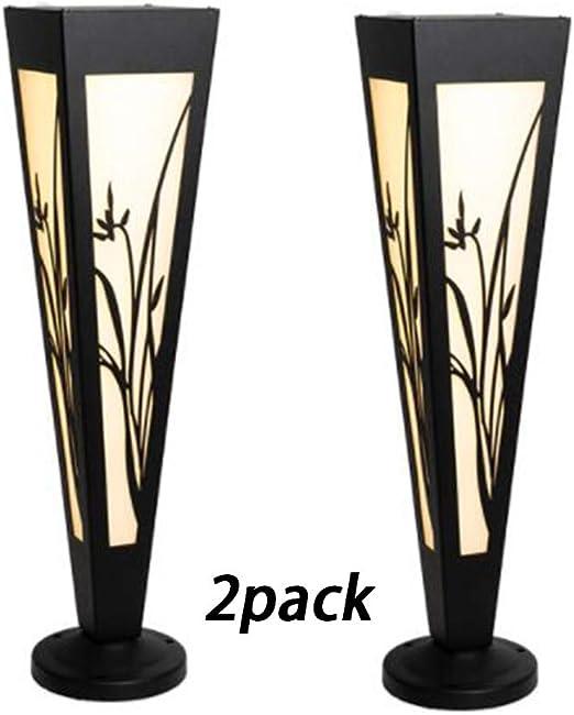 YAYADU Farolas Jardin Exterior Simplicidad Moderna Patio Fijo Destacar Triángulo Impermeable IP54 Jardín Villa Iluminación Exterior (Color : Black-A, Size : 15x60cm): Amazon.es: Hogar