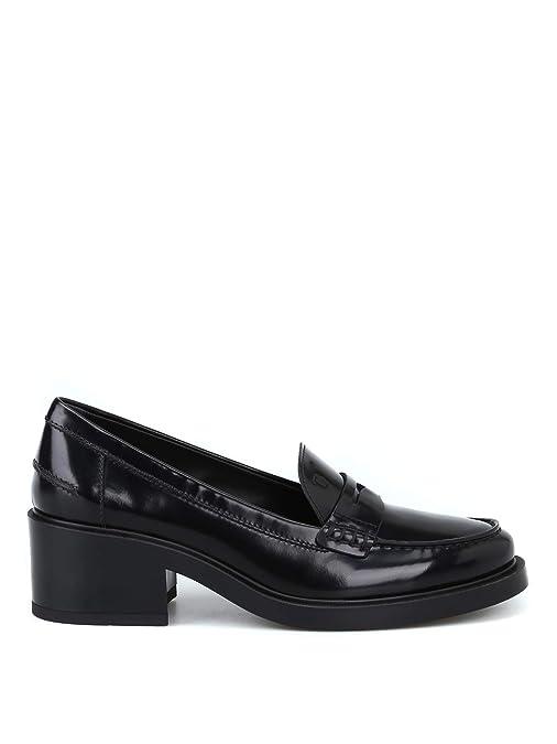 Tods Mujer XXW26B0AJ90SHAB999 Negro Cuero Mocasín: Amazon.es: Zapatos y complementos
