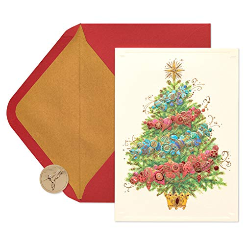 Papyrus Decorative Tree Boxed Holiday Cards, 12-Count