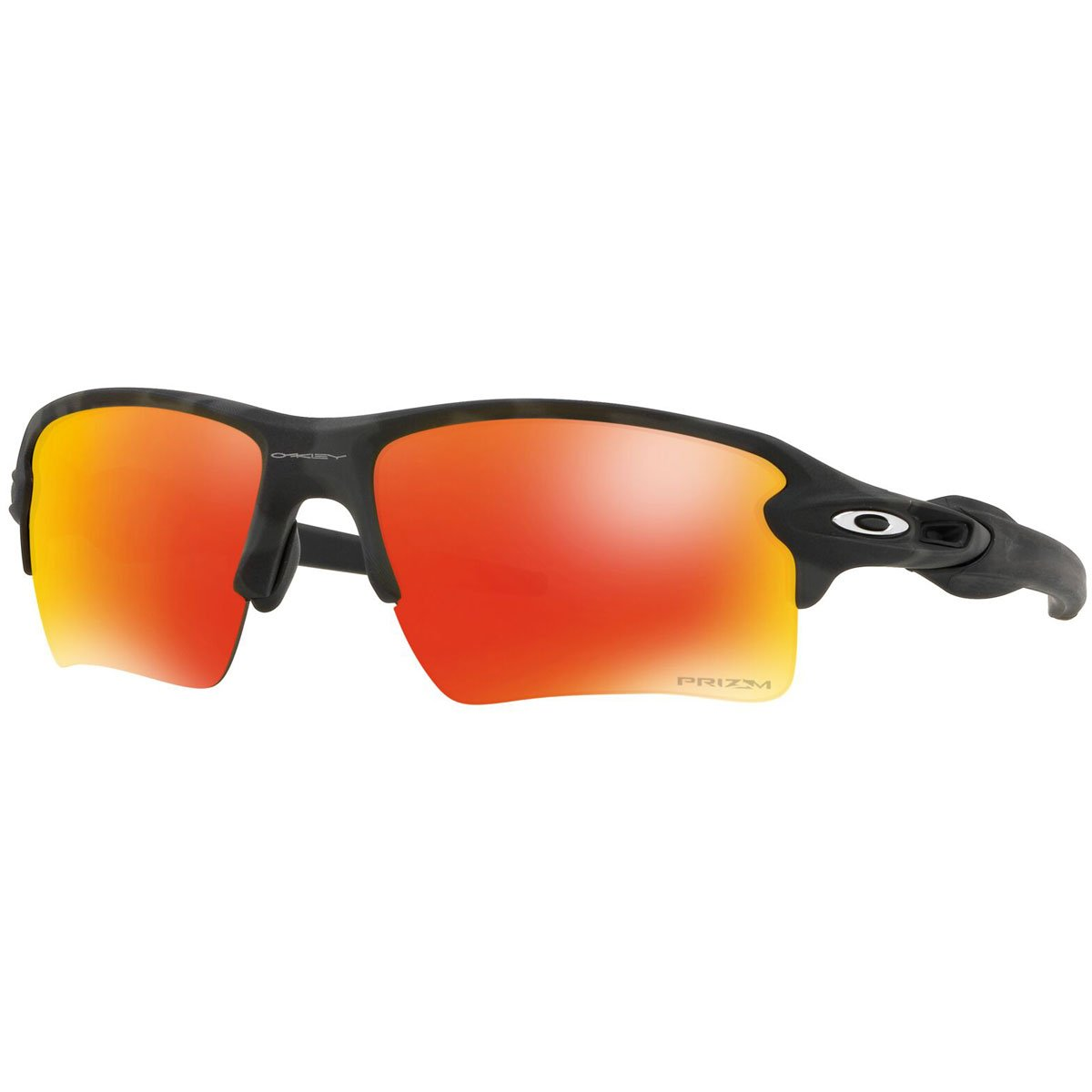 Oakley Men's OO9188 Flak 2.0 XL Rectangular Sunglasses, Black Camo/Prizm Ruby, 59 mm by Oakley