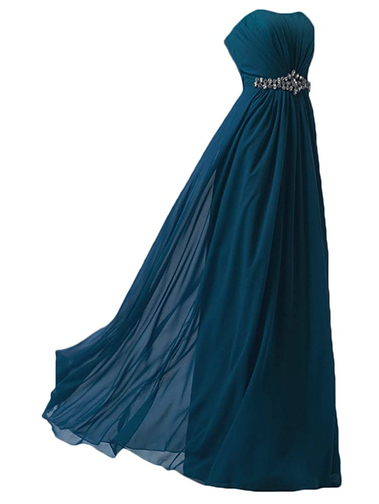 WAWALI Formal Long Prom Dresses Evening Party Gowns Crystal: Amazon.co.uk: Clothing
