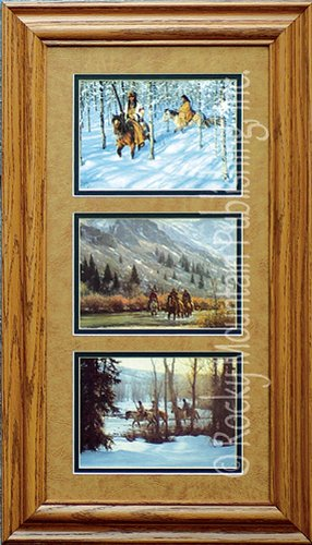 (Robert Duncan Native Journeys - Custom Framed-Open Edition Triple Paper Prints Ready to Hang on Your Wall)