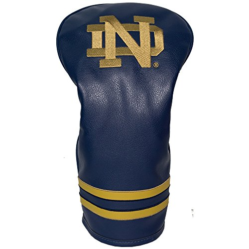 Team Golf NCAA Notre Dame Fighting Irish Vintage Driver Golf Club Headcover, Form Fitting Design, Retro Design & Superb Embroidery