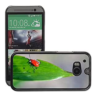 Etui Housse Coque de Protection Cover Rigide pour // M00111434 Rust Rojo Harina Escarabajo Insecto // HTC One M8