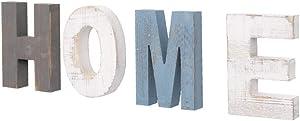 AZ L1 Life Concept Rustic Wood Home Sign, Decorative Wooden Block Word Signs, Freestanding Wooden Letters, Rustic Home Signs for Home Decor, 16.5 x 5.9 Inches, multicolor