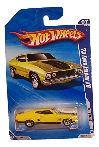 Hot Wheels 2010 All Stars 07/10 Yellow '73 Ford Falcon XB (1973 73 Jeep)