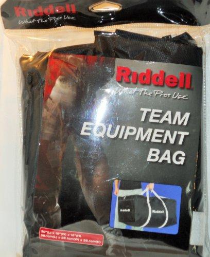 (Riddell Black Sports Team Equipment Duffle Bag)