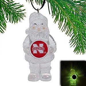 Nebraska Cornhuskers LED Holiday Santa Ornament