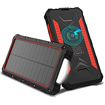 Amazon Com Quick Charge Outxe 20000mah Rugged Solar