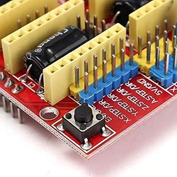 LDTR-DM18 CNC Shield Board + 4Pcs A4988 Controlador de Motor Paso ...