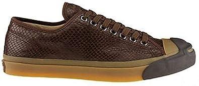 2dad53eaae8 Converse x John Varvatos Jack Purcell Vintage Brown Leather Snake Embossed  Ox 1W226 (Big Kid