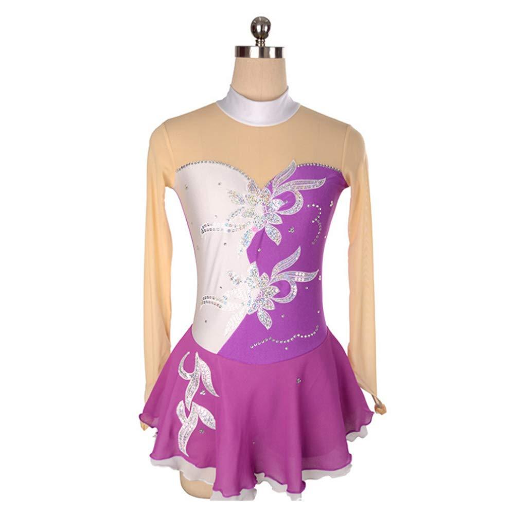 DILIKEXUE Eiskunstlaufkleid für Mädchen Frauen Eislaufen Wettbewerb Leistung Kostüm Tanzkostüm Kleid Professionelle Stretch Atmungsaktiv B07M5S2B56 Kostüme für Erwachsene Das hochwertigste Material