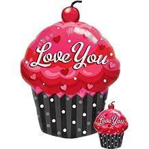 """35"""" Love You Cupcake Jumbo Mylar Balloon"""