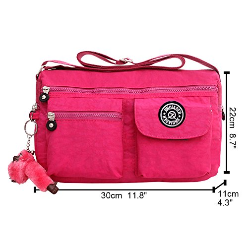 Black Satchel Women Wiwsi Pink Small Nylon Handbag Crossbody Shoulder New Hot Fashion Zip Bags PCvwCqf