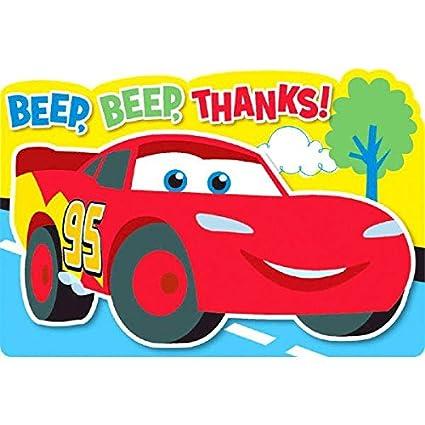 Amazon.com: Amscan – Disney Cars 1er Cumpleaños postal ...
