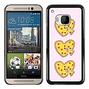 Plastic Shell Protective Case Cover    HTC One M9    Love Food Yellow Pink Heart @XPTECH