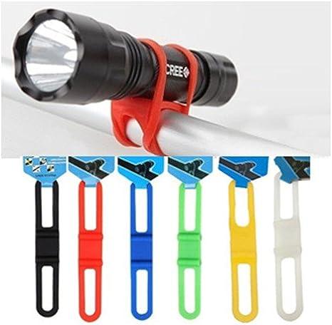 Linternas para bicicleta con cinta de silicona, incluye 5 unidades: Amazon.es: Deportes y aire libre