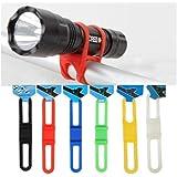 Bande De Silicone Générique Vtt Vélo Bike Vélos Flash Light Lampe De Poche Phone Strap Tie Mount Ruban Holder (Pack De 5)