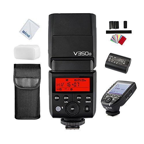 GODOX V350O 2.4G HSS 1/8000s Li-ion Battery TTL Flash Speedlite with XPro-O TTL Wireless Flash Trigger for Olympus Panasonic Cameras