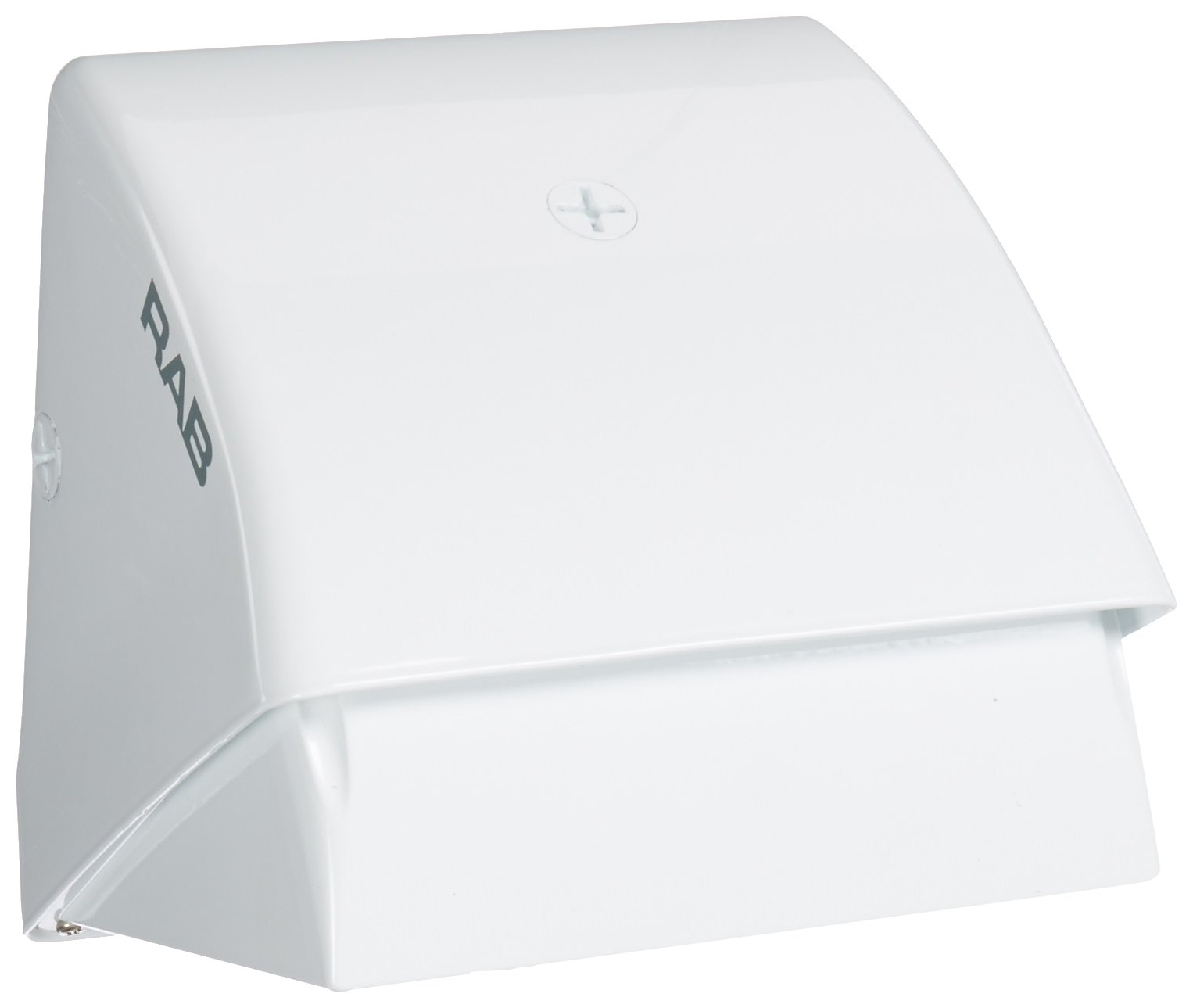 RAB Lighting WP1CSN50W WP1 High Pressure Sodium Wallpack with Cutoff Glare Shield, ED17 Type, Aluminum, 50W Power, 4000 Lumens, 120V, White