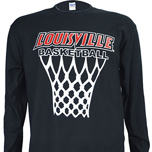 University of Louisville Cardinals Long Sleeve Black Net Shirt ~ Cards Basketball (Large)
