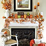 Lvydec 2 Pack Fall Maple Leaf Garland - 6.5ft/Piece Artificial Fall Foliage Garland Thanksgiving Decor for Home Wedding Party Christmas