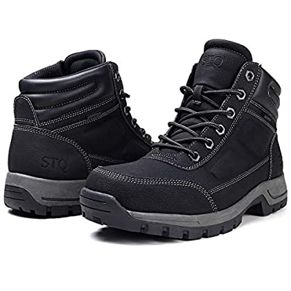 STQ Men's Hiking Boots Lace up Lightweight Ankle Booties