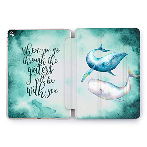 Wonder Wild Watercolor Whale Apple iPad Pro Case 9.7 11 inch Mini 1 2 3 4 Air 2 10.5 12.9 2018 2017 Design 5th 6th Gen Clear Smart Hard Cover -