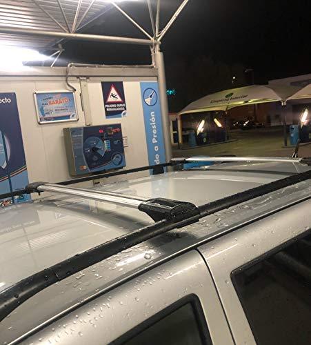 Lockable AeroWingBar Aerodynamic Aluminium Cross Bars Roof Racks for Audi A4 B7 Avant 2005 2007 Silver Anodised