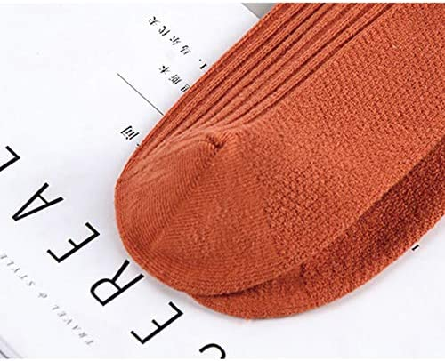 Kanggest.Calcetines Algodon Hombre Mujer con Letras Antideslizantes Respirable Calcetines Rayas Hombre para Oto/ño e Invierno Calcetines Deportivos-Gris Claro