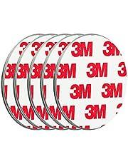 ECENCE Rookmelder magneethouder 5 stuks zelfklevende magneethouder voor rookmelder Ø 50 mm snelle & veilige montage zonder te boren of schroeven, voor alle brand- en rookmelders