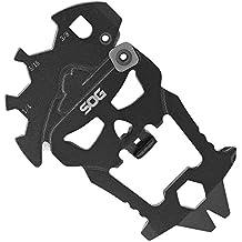 SOG MacV Tool Multi-Tool SM1001-CP - Hardcased Black, 12 Tools in One: Bottle Opener, Screwdrivers