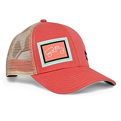 bigtruck Classic Outdoor Mesh Snapback Baseball Hat, Salmon/Khaki by bigtruck