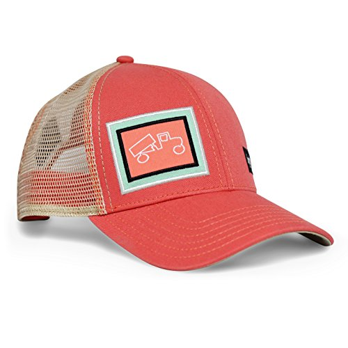 (bigtruck Classic Trucker Hat, Salmon Khaki, Adult)