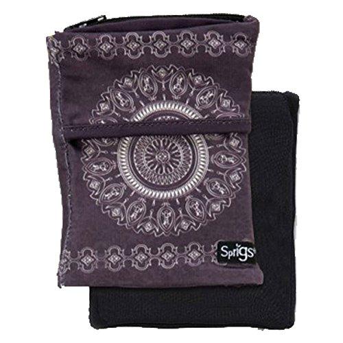 - Sprigs Big Banjee Wrist Wallet (Slate Gray Batik)