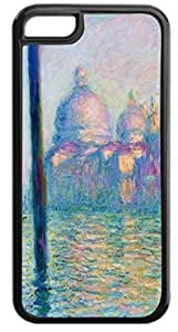 Claude Monet's Grand Canal at Venice- Case for the APPLE IPHONE 5c, 5c-Hard Black Plastic Outer Case with Tough Black Rubber Lining