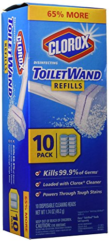 Clorox Toilet Wand Refill, 10 Count