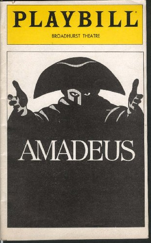 Amadeus Playbill 7/1981 Ian McKellen Peter Firth Amy Irving Broadhurst Theatre by The Jumping Frog