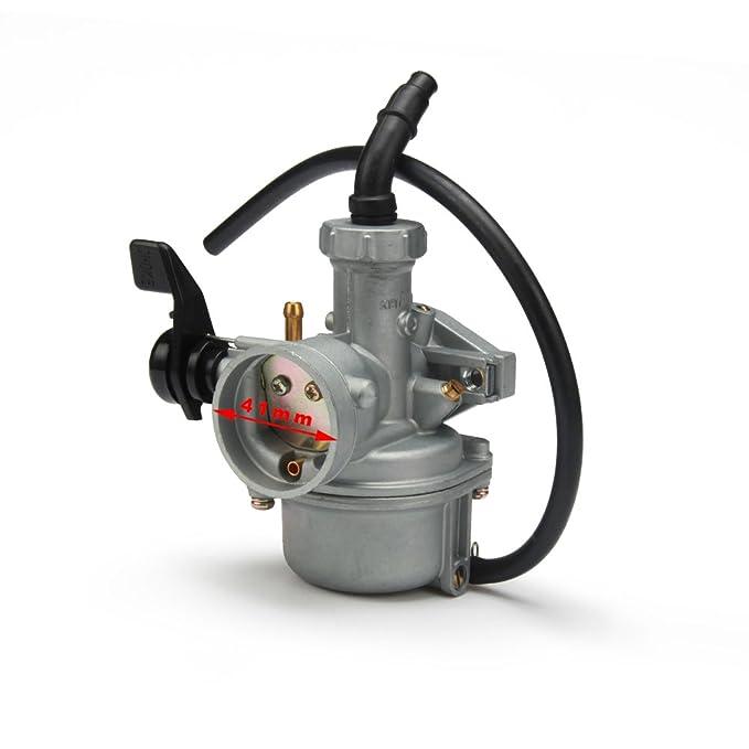 XLYZE PZ22 Carburador 22 mm Carb Tubo de admisi/ón del filtro de aire para 110cc 125cc ATV Quad Pit Pro Dirt Trail Bike SSR Lifan CRF50