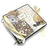 Kristabella Creations 12x12 Wedding Scrapbook Album, metal ring binder, Wedding Photo Album, Anniversary Memory Book, Wedding Gift