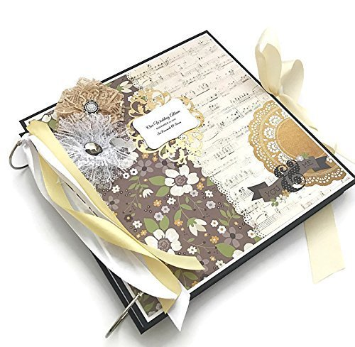 Kristabella Creations 12x12 Wedding Scrapbook Album, metal ring binder, Wedding Photo Album, Anniversary Memory Book, Wedding Gift by Kristabella Creations