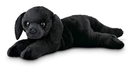 Amazon Com Bearington Jet Black Labrador Retriever Plush Stuffed