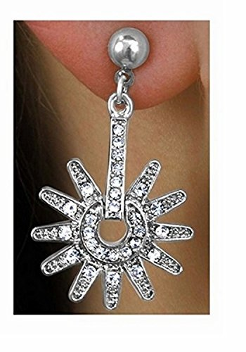 Genuine Austrian Crystal Spur Drop Earrings by Lonestar Jewelry