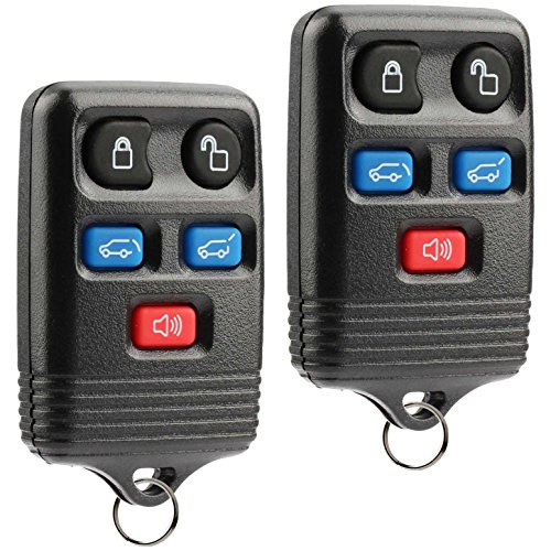 Car Key Fob Keyless Entry Remote fits 2003-2010 Ford Expedition / 2008-2010 Lincoln Navigator (CWTWB1U551), Set of 2 - Ford Escort Hatch