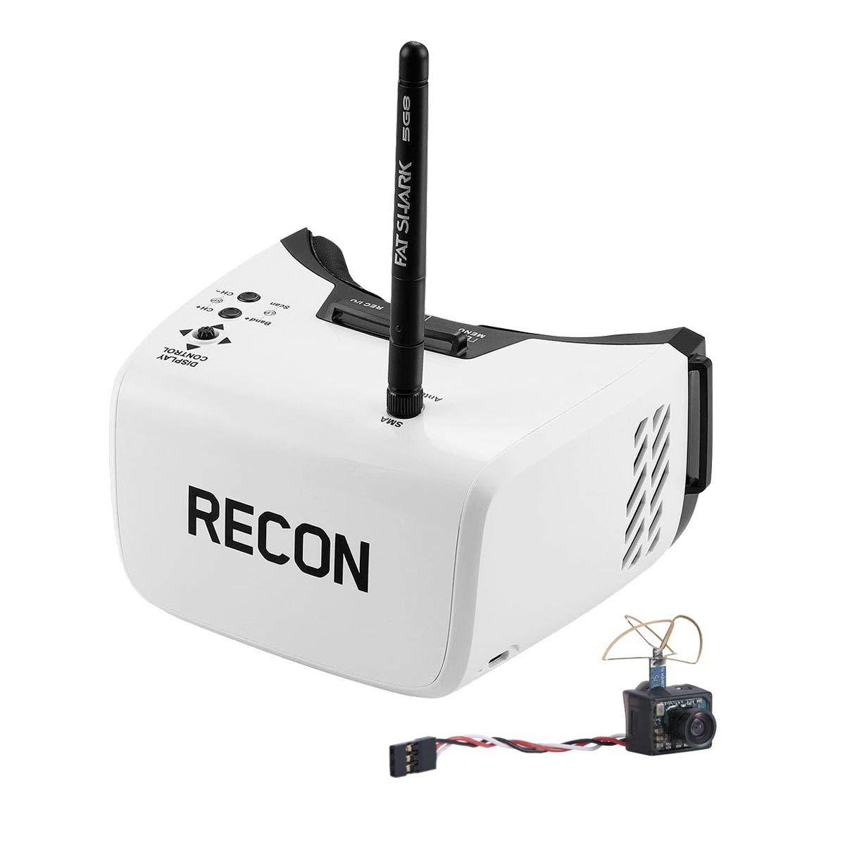 Fat Shark Recon V2 FPV DRV ビデオゴーグルとウルトラマイクロカメラ (5G8 25mW ビデオ送信機内蔵) RTFコンボ B07LDKXDG9