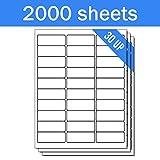 OfficeSmartLabels Rectangular 1 x 2-5/8 Address / Mailing Labels for Laser & Inkjet Printers, 1 x 2.625 Inch, 30 per sheet, White, 60000 Labels, 2000 Sheets