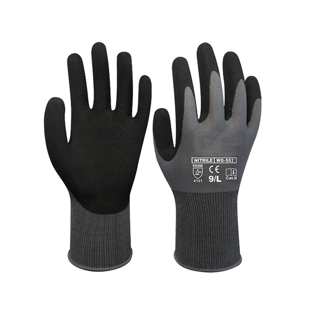 Lxrzls Gauntlets for Industrial, Chemical-Resistant Nitrile GlovesglovesLatex Coated Work (Size : XL)