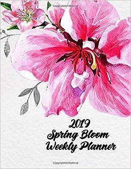 Amazon 2019 Spring Bloom Weekly Planner 12 Months Weekly
