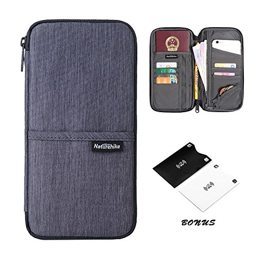 Travel Wallet,Passport Holder with Hand Strap and Zipper-Amazing Travel Wallet that Can Hold all Your Documents, Cards, Visas and More - Sleek Lightweight Design for Easy Organizing Case (Urban Gray)