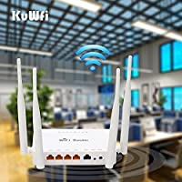 KuWFi 300mbps high power openWRT preloaded wireless router wifi strong signal Wireless Router with USB Port with 4X5 dbi antenna